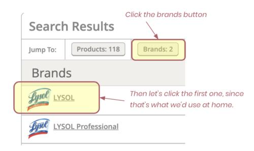 Lysol Brand