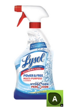 Lysol Power A Rating